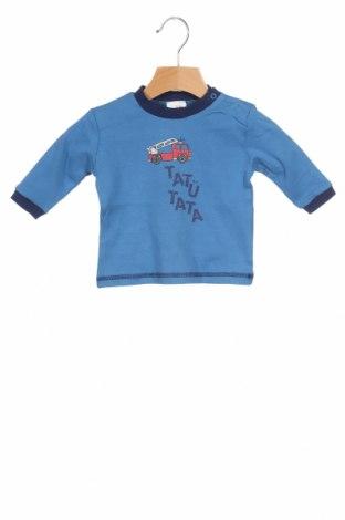 Детска блуза Schnizler, Размер 2-3m/ 56-62 см, Цвят Син, Памук, Цена 24,00лв.