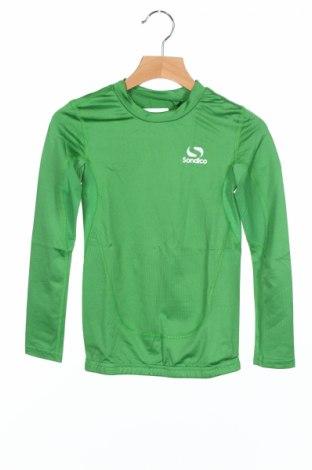 Детска спортна блуза Sondico, Размер 6-7y/ 122-128 см, Цвят Зелен, 92% полиамид, 8% еластан, Цена 4,60лв.