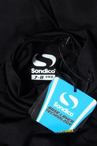 Детска спортна блуза Sondico, Размер 6-7y/ 122-128 см, Цвят Черен, 92% полиамид, 8% еластан, Цена 9,20лв.