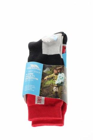 Detské ponožky  Trespass, Veľkosť 9-10y/ 140-146 cm, Farba Viacfarebná, 35% iné materiály, 60% polyamide, 5% elastan, Cena  8,97€