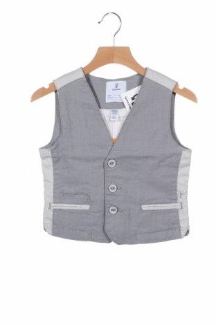 Детски елек Okaidi, Размер 5-6y/ 116-122 см, Цвят Сив, 70% памук, 28% полиестер, 2% еластан, Цена 26,40лв.