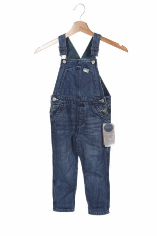 Salopetă pentru copii. Zara Kids, Mărime 18-24m/ 86-98 cm, Culoare Albastru, Bumbac, Preț 64,66 Lei