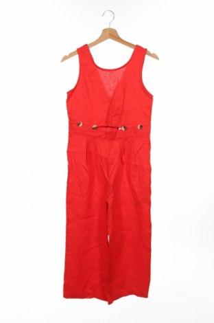 Salopetă pentru copii. Zara Kids, Mărime 13-14y/ 164-168 cm, Culoare Roșu, In, Preț 75,26 Lei