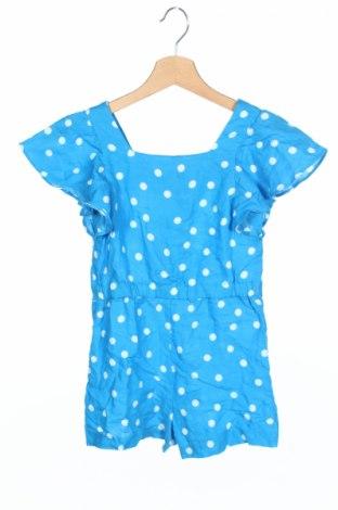 Salopetă pentru copii. Zara Kids, Mărime 6-7y/ 122-128 cm, Culoare Albastru, 50% ramia, 50% viscoză, Preț 75,26 Lei