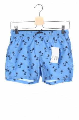 Pantaloni scurți de copii Zara Kids, Mărime 11-12y/ 152-158 cm, Culoare Albastru, Poliester, Preț 43,42 Lei