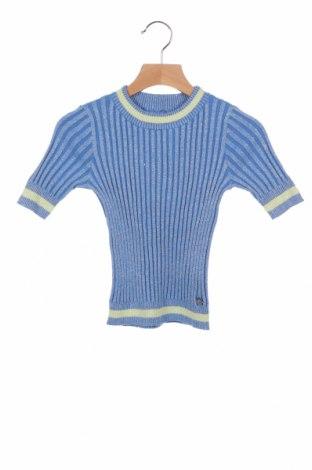 Pulover de copii Twin-Set, Mărime 7-8y/ 128-134 cm, Culoare Albastru, 90% bumbac, 10% poliester, Preț 175,58 Lei