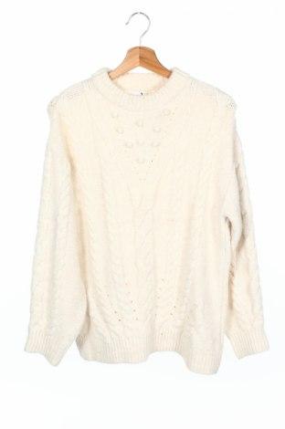 Детски пуловер Zara Kids, Размер 13-14y/ 164-168 см, Цвят Бял, Цена 25,35лв.