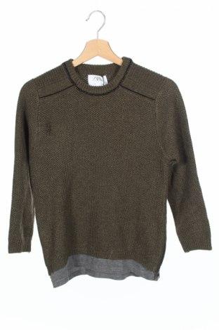 Детски пуловер Zara Kids, Размер 8-9y/ 134-140 см, Цвят Зелен, 67% полиестер, 33% памук, Цена 18,85лв.