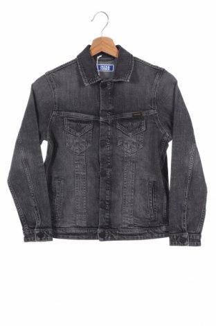 Dziecięca kurtka dżinsowa Jack & Jones, Rozmiar 11-12y/ 152-158 cm, Kolor Szary, 99% bawełna, 1% elastyna, Cena 89,43zł