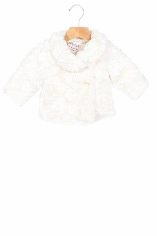 Детско палто Marks & Spencer, Размер 3-6m/ 62-68 см, Цвят Екрю, Полиестер, Цена 54,58лв.