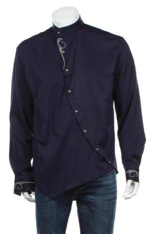 Ανδρικό πουκάμισο Whatlees, Μέγεθος L, Χρώμα Μπλέ, Τιμή 19,74€