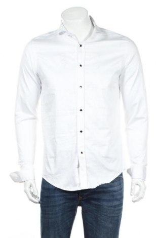 Ανδρικό πουκάμισο Zara, Μέγεθος M, Χρώμα Λευκό, Βαμβάκι, Τιμή 18,22€