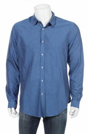 Ανδρικό πουκάμισο Zara, Μέγεθος XL, Χρώμα Μπλέ, Βαμβάκι, Τιμή 10,00€