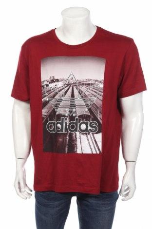 Tricou de bărbați Adidas, Mărime XL, Culoare Roșu, Preț 95,50 Lei