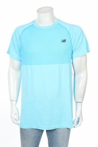 Pánské tričko  New Balance, Rozměr XL, Barva Modrá, 69% polyamide, 31% polyester, Cena  350,00Kč