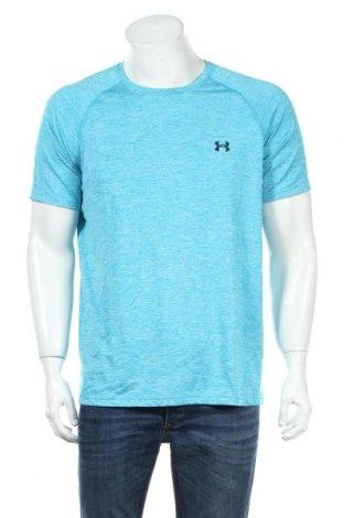 Pánske tričko  Under Armour, Veľkosť XXL, Farba Modrá, Bavlna, Cena  10,21€