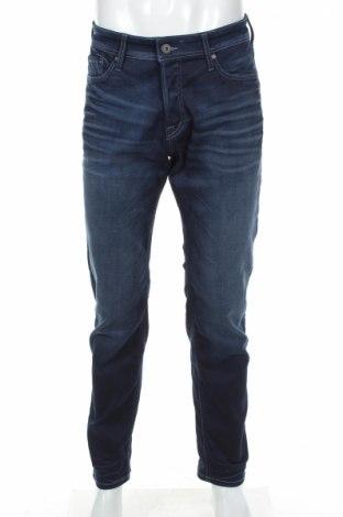 Blugi de bărbați Jack & Jones, Mărime M, Culoare Albastru, 75% bumbac, 23% poliester, 2% elastan, Preț 152,03 Lei