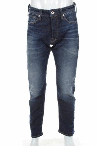 Blugi de bărbați Jack & Jones, Mărime M, Culoare Albastru, 93% bumbac, 5% poliester, 2% elastan, Preț 152,03 Lei