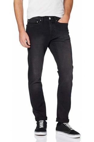 Мъжки дънки New Look, Размер S, Цвят Сив, 99% памук, 1% еластан, Цена 44,64лв.