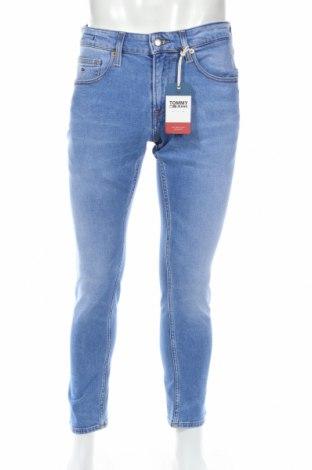 Pánske džínsy  Tommy Hilfiger, Veľkosť M, Farba Modrá, 99% bavlna, 1% elastan, Cena  59,64€