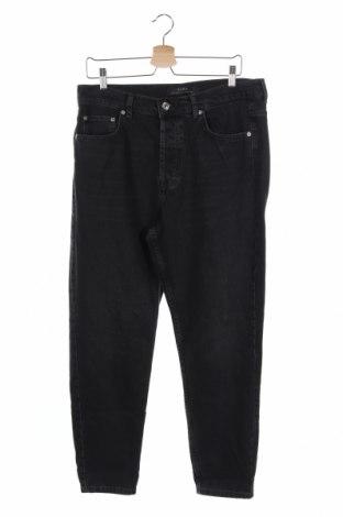 Blugi de bărbați Zara, Mărime L, Culoare Gri, Bumbac, Preț 90,05 Lei