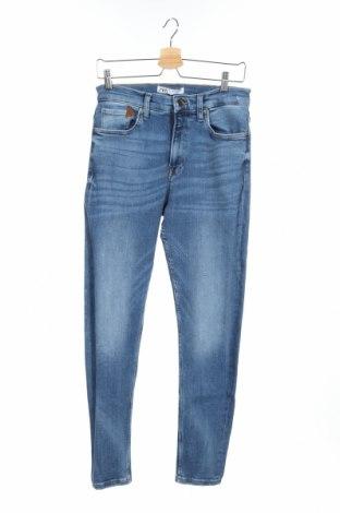 Blugi de bărbați Zara, Mărime S, Culoare Albastru, 92% bumbac, 6% poliester, 2% elastan, Preț 90,05 Lei
