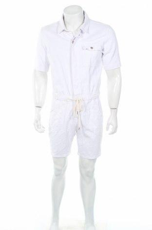Salopetă de bărbați Boohoo, Mărime M, Culoare Alb, 95% bumbac, 5% elastan, Preț 85,47 Lei