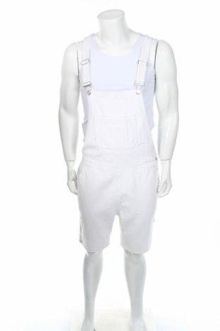 Salopetă de bărbați Boohoo, Mărime L, Culoare Alb, 95% bumbac, 5% elastan, Preț 92,37 Lei