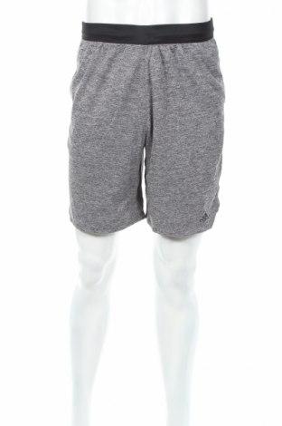 Мъжки къс панталон Adidas, Размер M, Цвят Сив, 100% полиестер, Цена 29,57лв.
