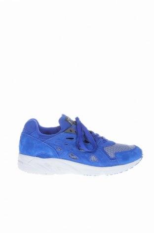 Ανδρικά παπούτσια ASICS, Μέγεθος 42, Χρώμα Μπλέ, Φυσικό σουέτ, κλωστοϋφαντουργικά προϊόντα, Τιμή 55,73€