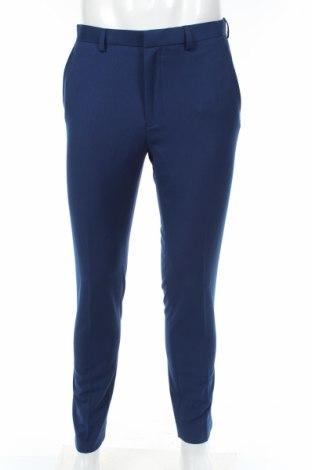 Ανδρικό παντελόνι Burton of London, Μέγεθος M, Χρώμα Μπλέ, 64% πολυεστέρας, 34% βισκόζη, 2% ελαστάνη, Τιμή 20,68€