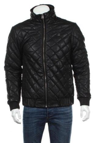 Мъжко кожено яке G-Star Raw, Размер M, Цвят Черен, Еко кожа, Цена 167,27лв.