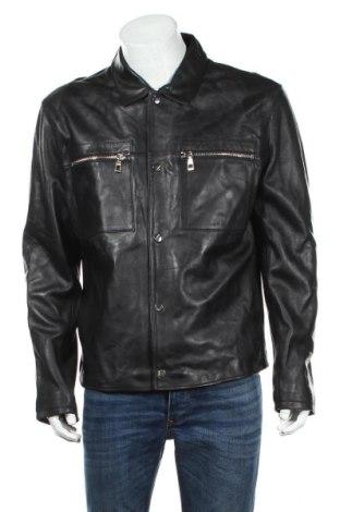 Geacă de piele pentru bărbati Zara, Mărime XL, Culoare Negru, Piele ecologică, Preț 187,58 Lei