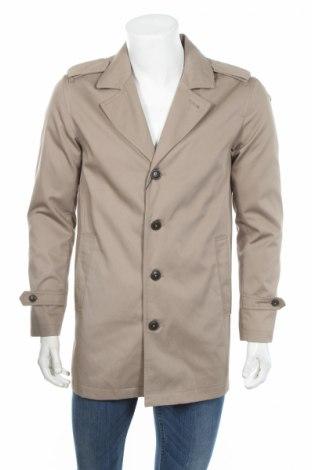 Pánský kabát  Premium By Jack & Jones, Rozměr S, Barva Béžová, 65% polyester, 35% bavlna, Cena  561,00Kč