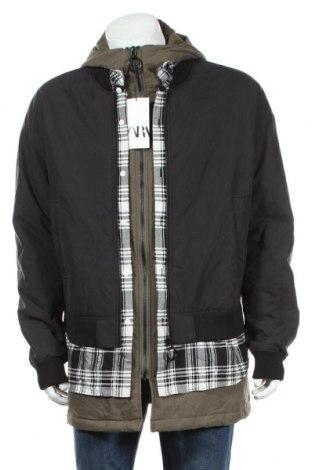Ανδρικό μπουφάν Zara, Μέγεθος L, Χρώμα Γκρί, Βαμβάκι, Τιμή 35,72€