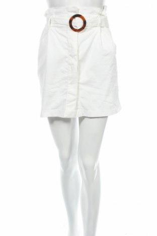 Fustă Zara Trafaluc, Mărime XS, Culoare Alb, 63% bumbac, 34% poliester, 3% elastan, Preț 80,74 Lei