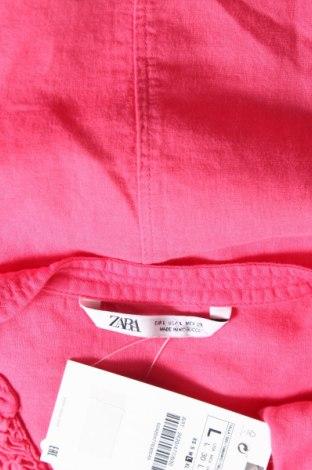 Τουνίκ Zara, Μέγεθος L, Χρώμα Ρόζ , 50% βαμβάκι, 50% λινό, Τιμή 9,65€