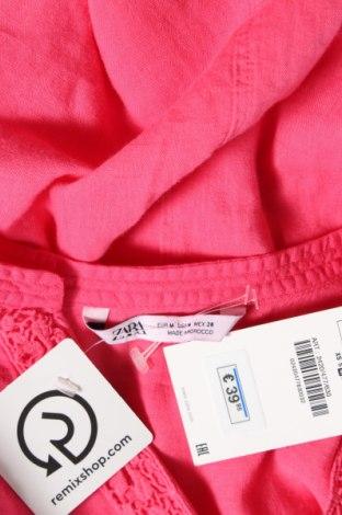 Τουνίκ Zara, Μέγεθος M, Χρώμα Ρόζ , 50% βαμβάκι, 50% λινό, Τιμή 9,65€