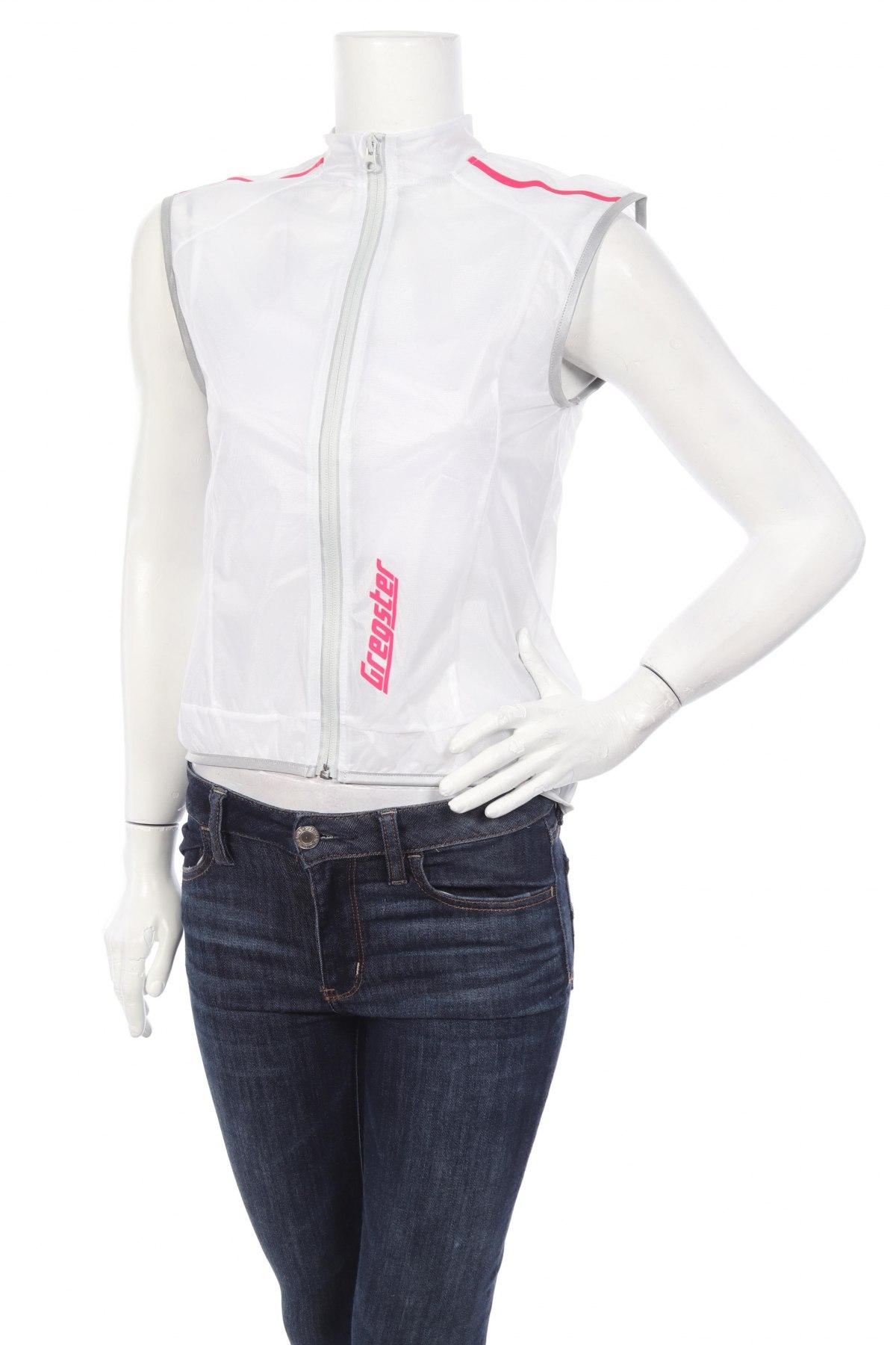 Дамски спортен елек Gregster, Размер S, Цвят Бял, Полиестер, Цена 7,28лв.