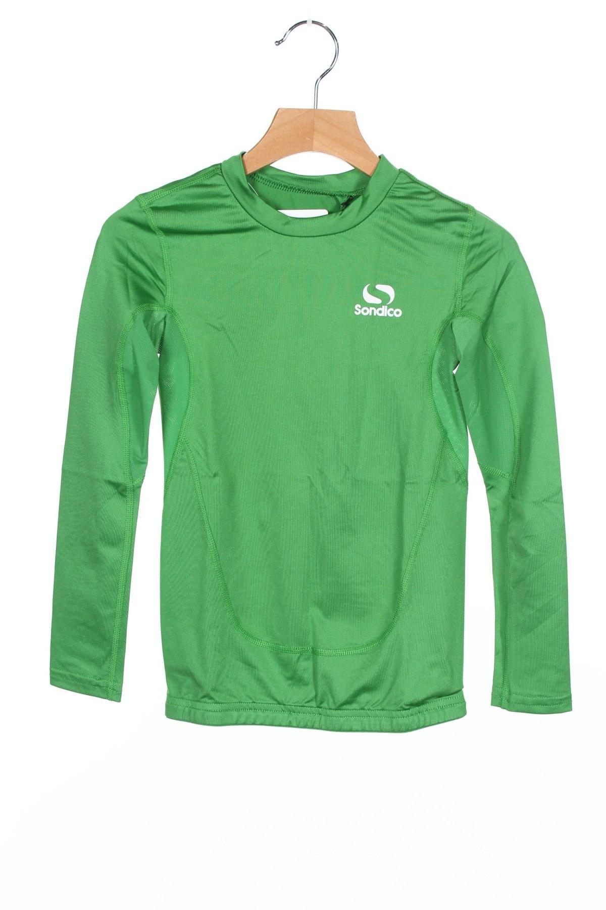 Детска спортна блуза Sondico, Размер 6-7y/ 122-128 см, Цвят Зелен, 92% полиамид, 8% еластан, Цена 34,50лв.