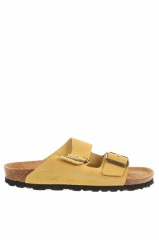 Чехли Sunbay, Размер 38, Цвят Жълт, Естествен велур, Цена 56,80лв.
