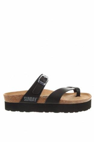 Чехли Sunbay, Размер 38, Цвят Черен, Еко кожа, Цена 74,82лв.