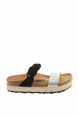 Чехли Sunbay, Размер 38, Цвят Черен, Еко кожа, естествен велур, Цена 104,25лв.