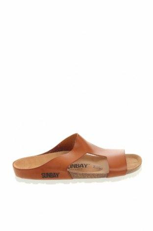 Чехли Sunbay, Размер 38, Цвят Кафяв, Еко кожа, Цена 60,63лв.