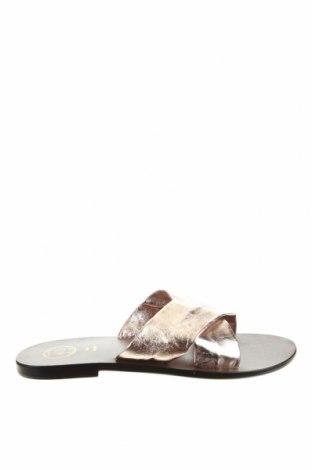 Papuci White Sun, Mărime 39, Culoare Auriu, Piele naturală, Preț 213,35 Lei