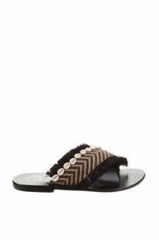 Papuci White Sun, Mărime 38, Culoare Negru, Piele naturală, Preț 217,89 Lei