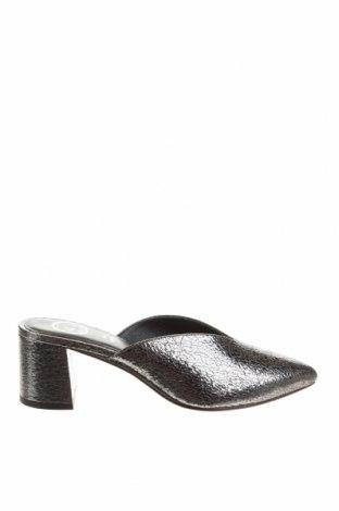Papuci White Sun, Mărime 38, Culoare Argintiu, Piele naturală, Preț 224,70 Lei