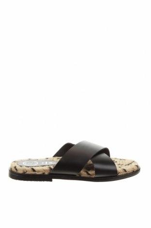 Papuci White Sun, Mărime 38, Culoare Negru, Piele naturală, Preț 170,23 Lei