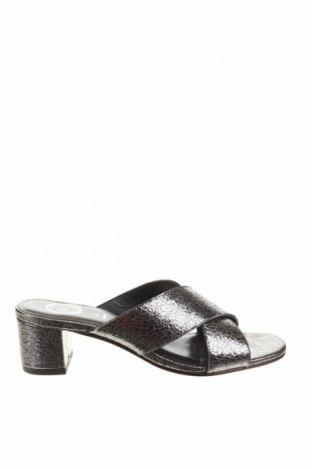 Papuci White Sun, Mărime 38, Culoare Argintiu, Piele naturală, Preț 208,81 Lei