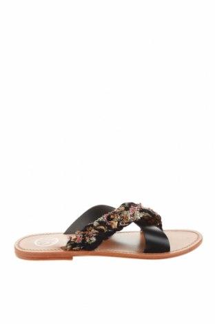 Γυναικείες παντόφλες White Sun, Μέγεθος 38, Χρώμα Μαύρο, Γνήσιο δέρμα, κλωστοϋφαντουργικά προϊόντα, Τιμή 26,68€